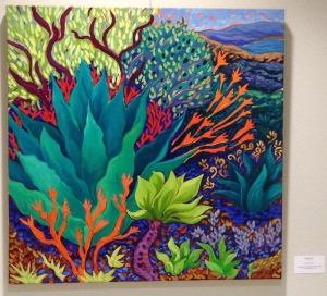 Reaching Out - oil painting  by Cathy Carey at Encinitas City Hall show runs May 8 - July 2, 2015